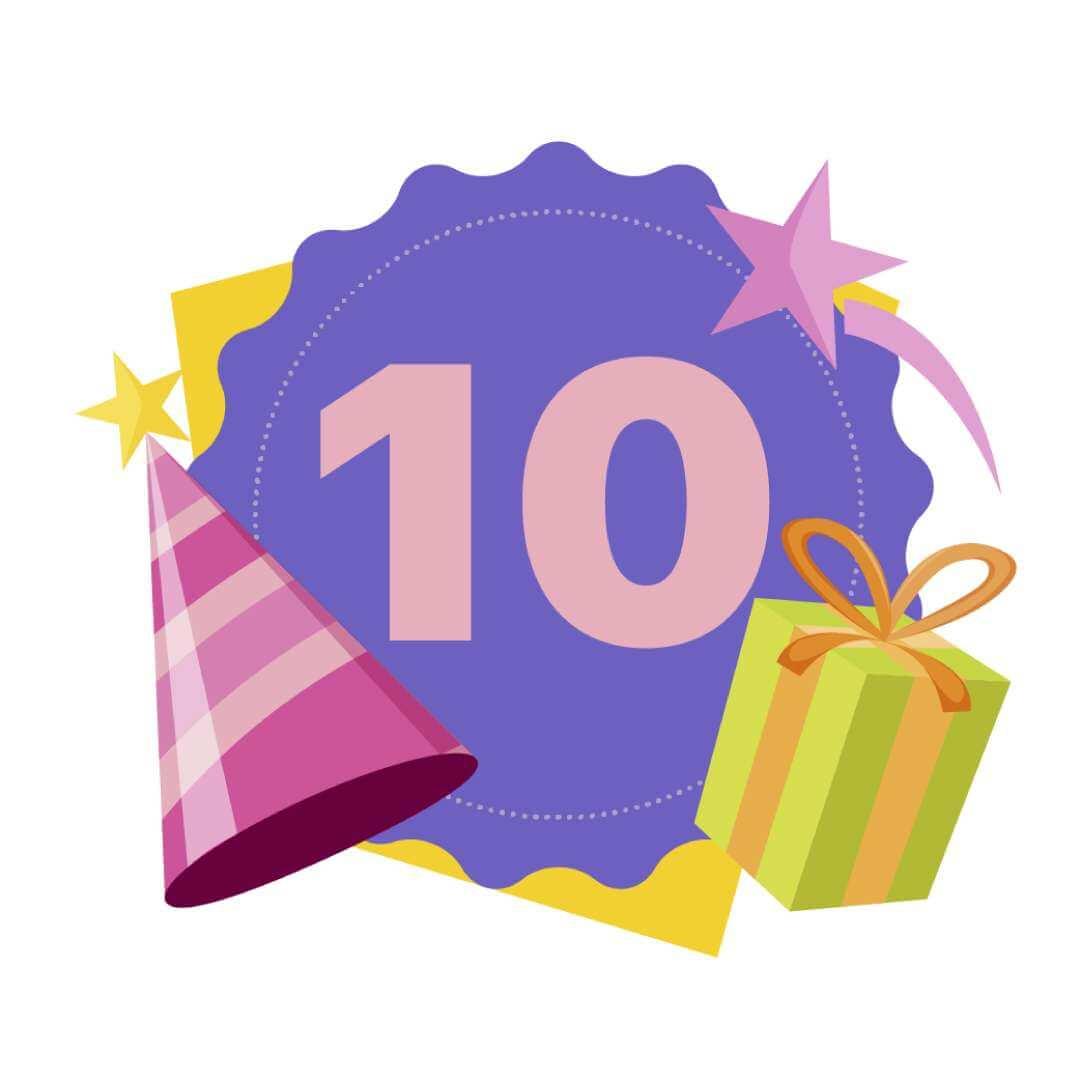 10 Age Birthday Banner