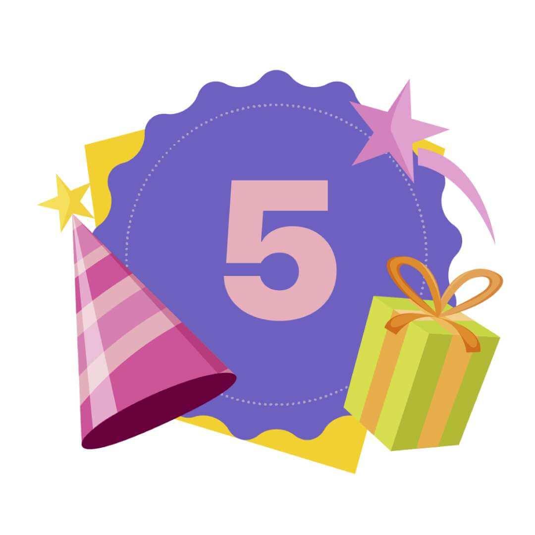 5 year Birthday Banner