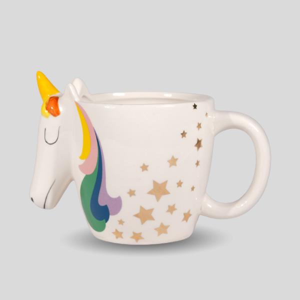 3d Rainbow Face Mug Unicorn