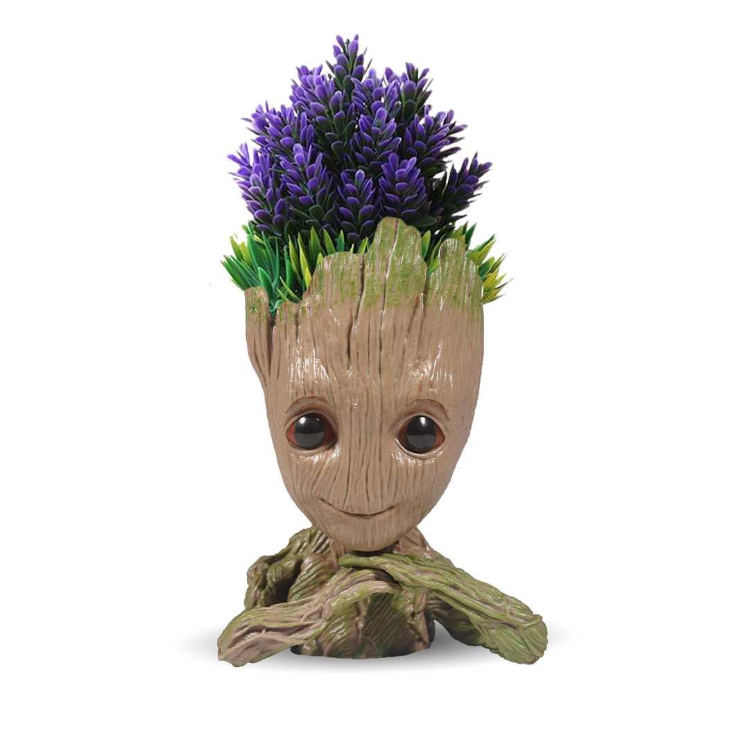 Baby Groot Flower Pot Wooden Look