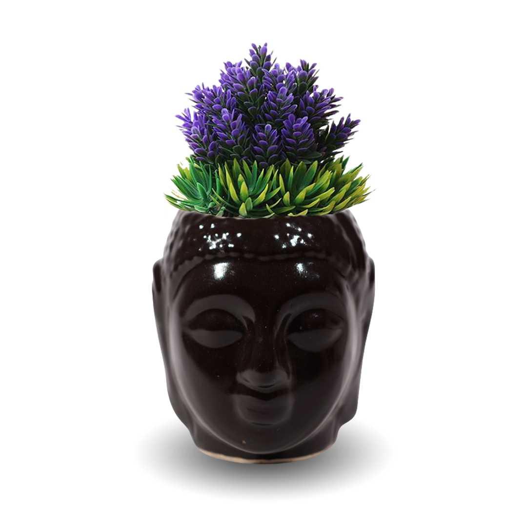 Black Buddha Succulent Pot