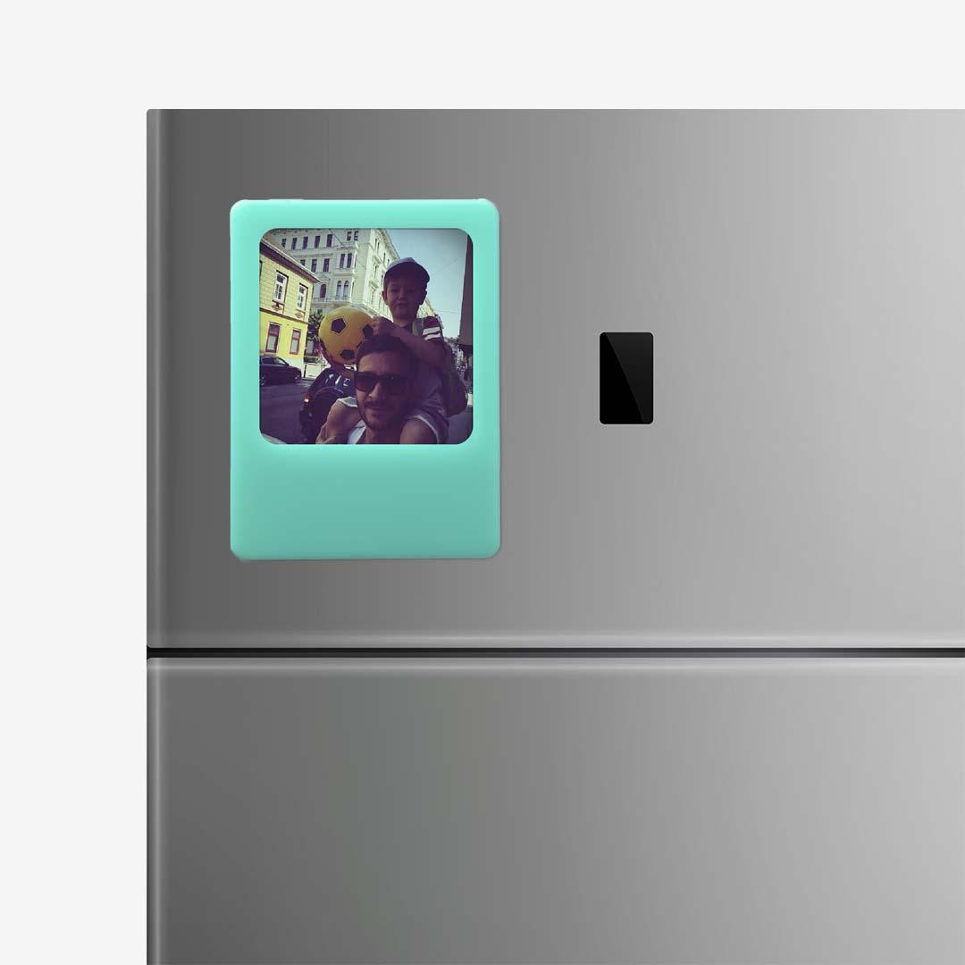 Blue Photo Frame Magnet