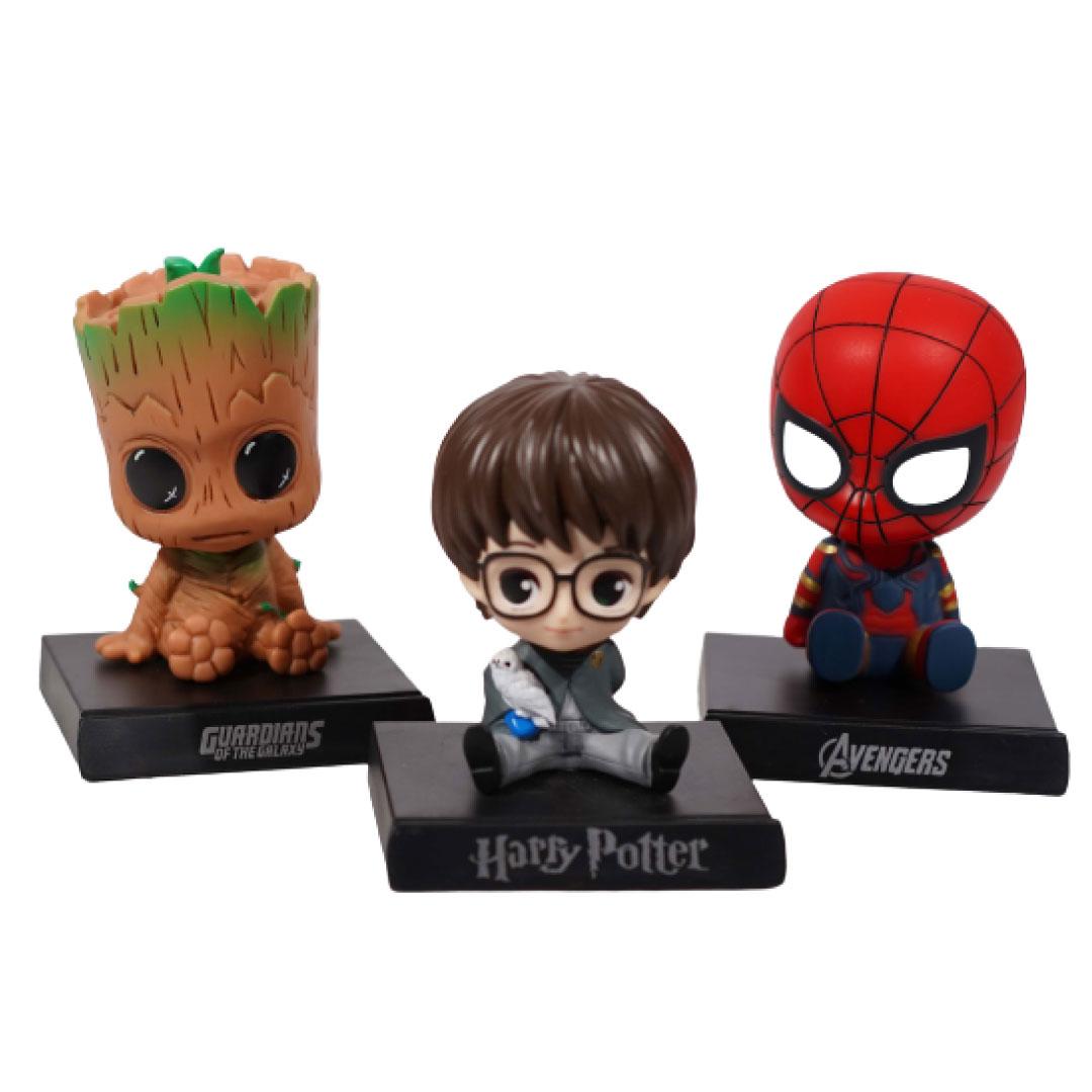 Combo of 3 Bobble heads (Harrypotter+Groot+Spiderman)