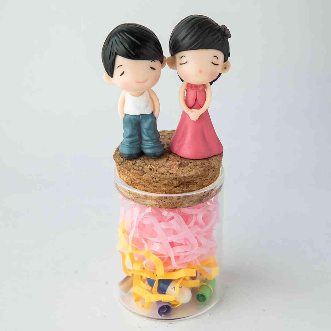 Couple Message Jar