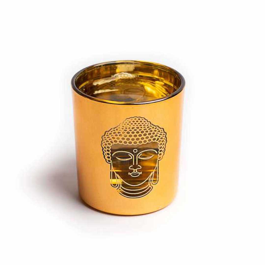 Glass Candle stand Buddha