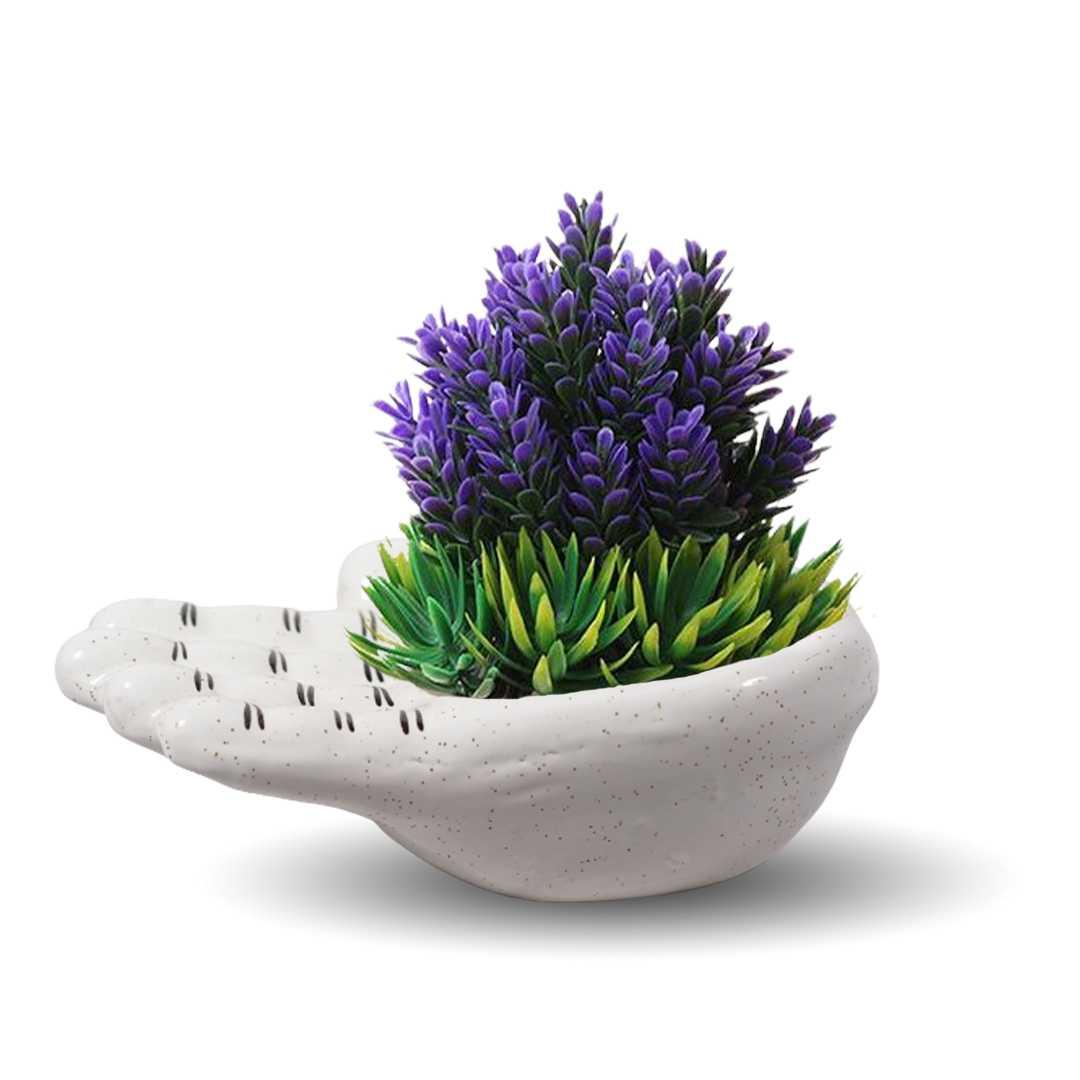 Hand Shaped Flower Pot
