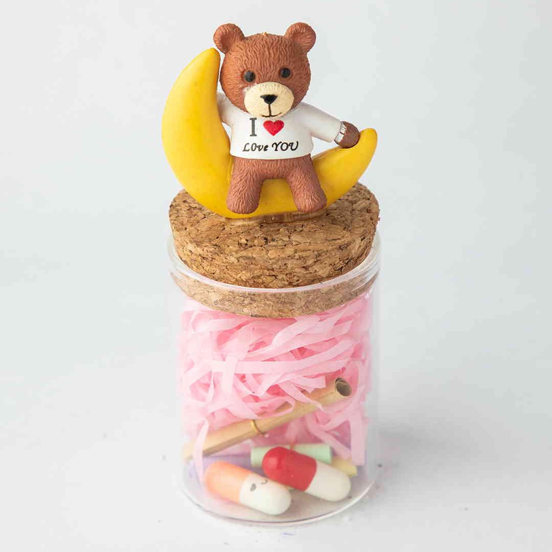 I Love You Teddy Jar