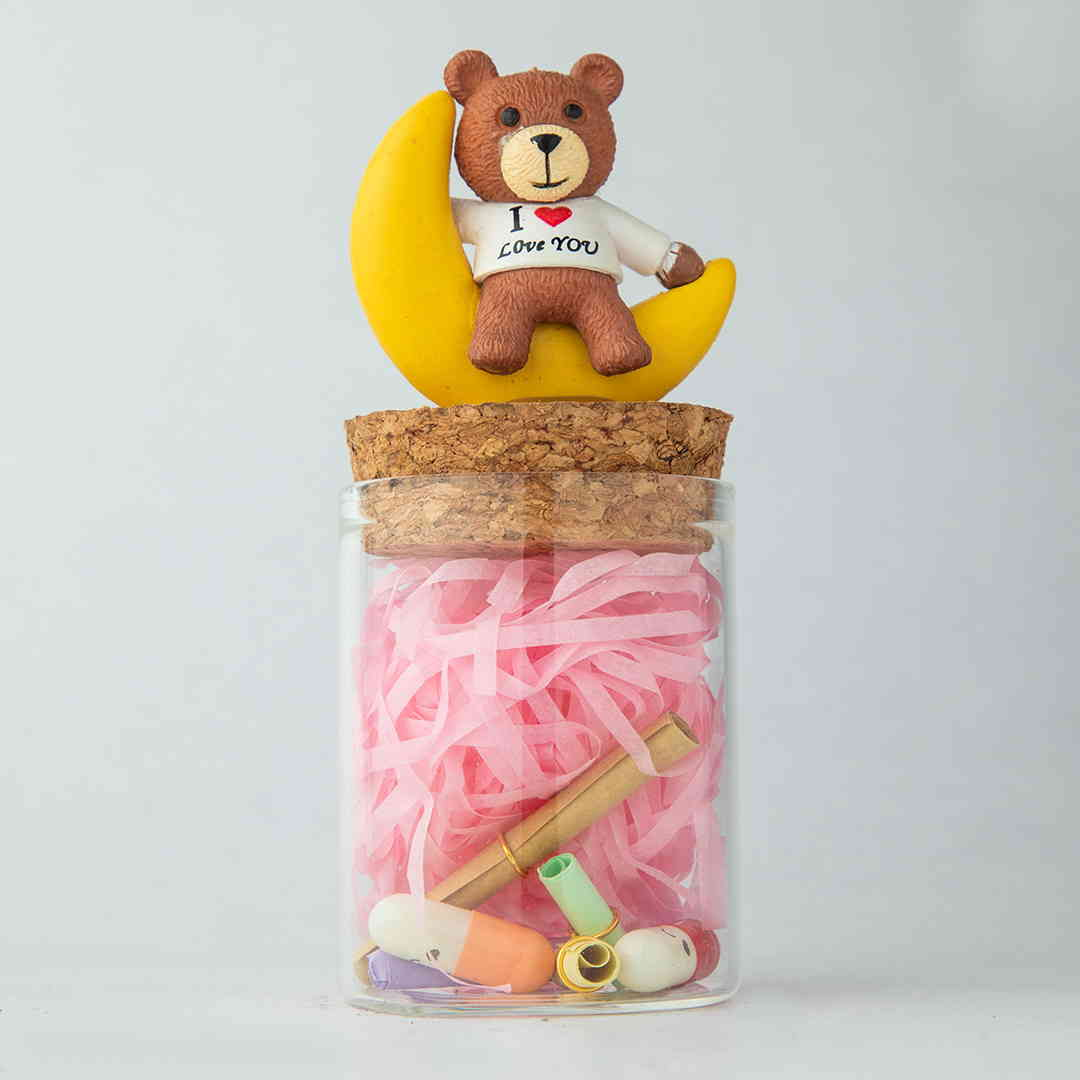 I Love You Teddy Jars