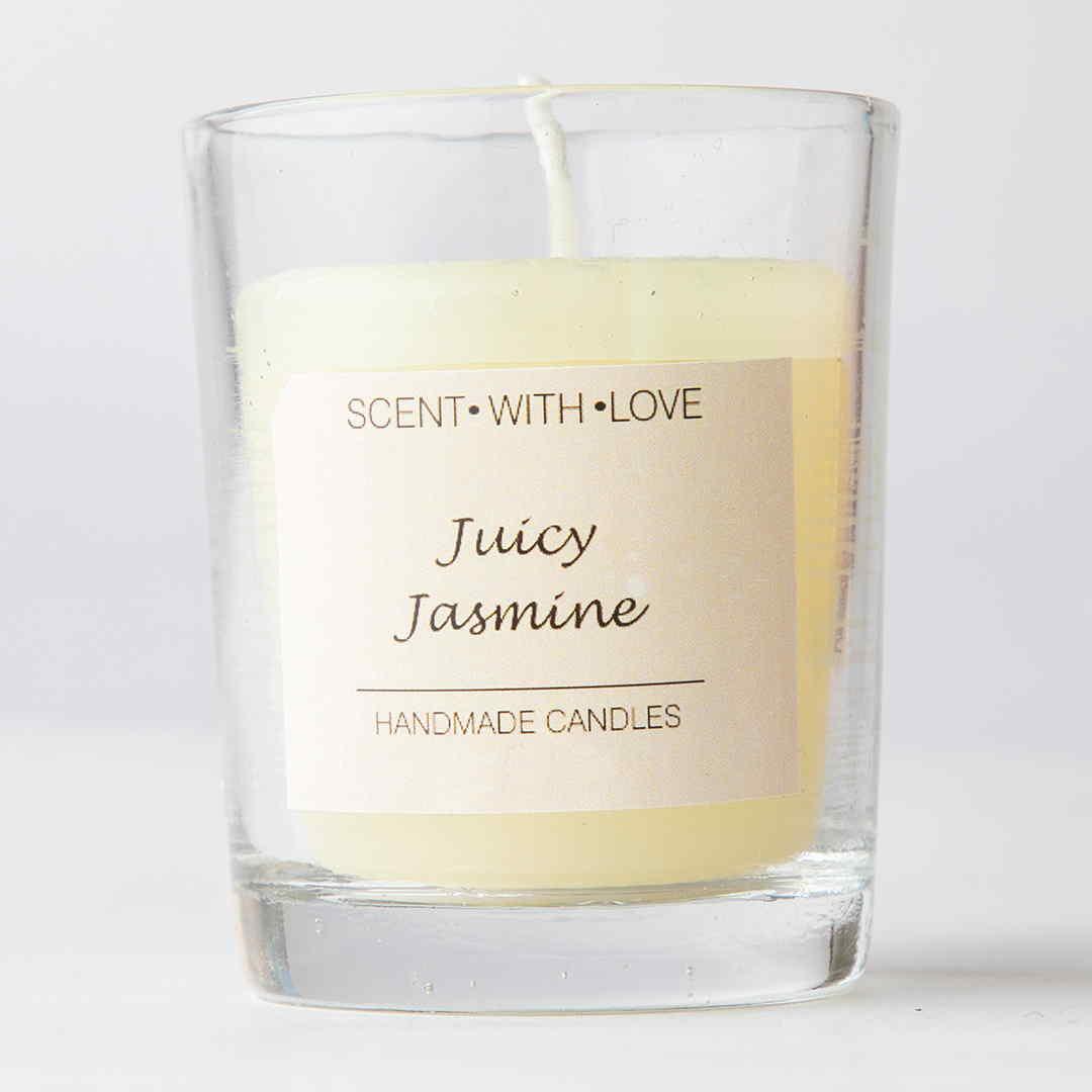 Juicy Jasmine Small Glass Candle