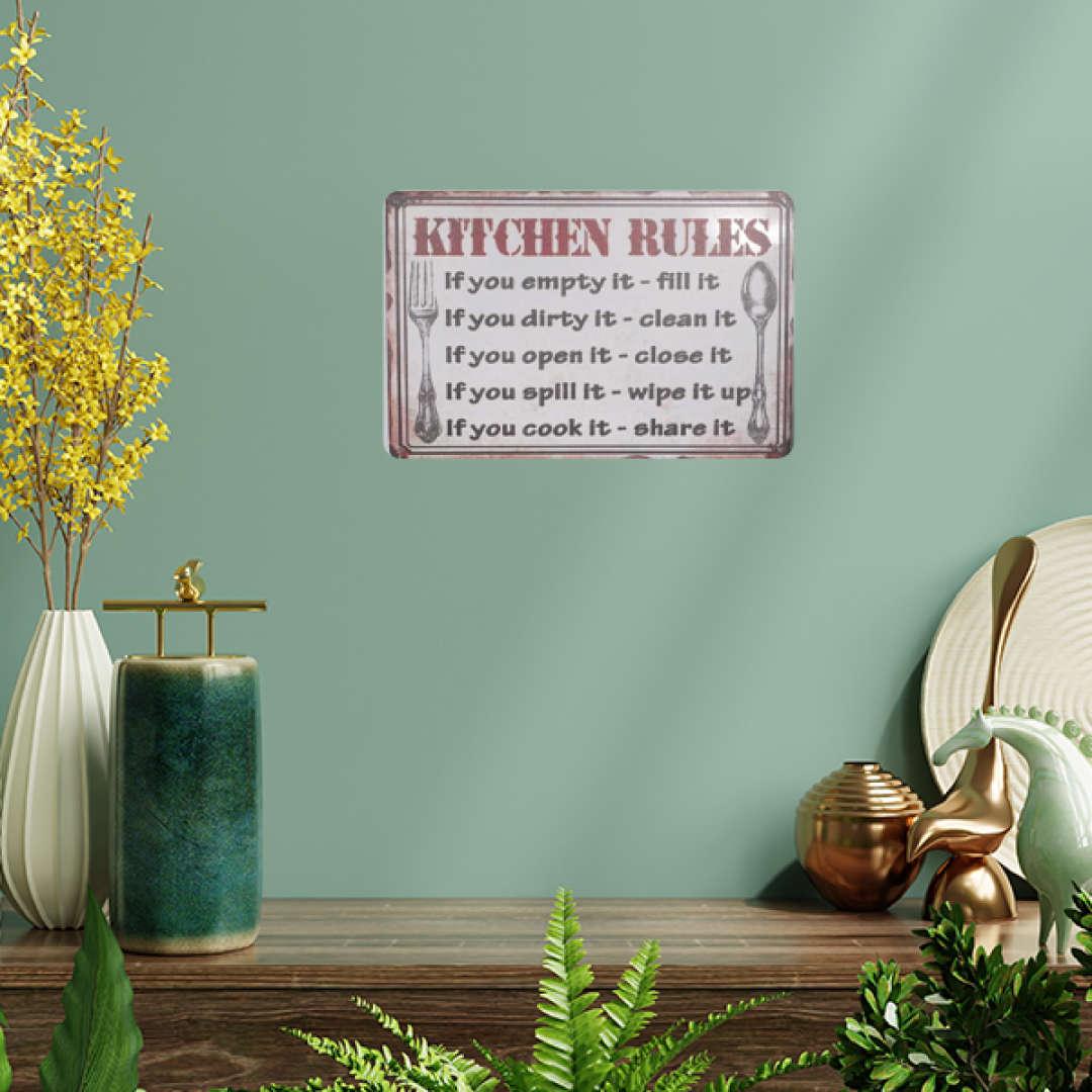 Kitchen Rules Tin Poster