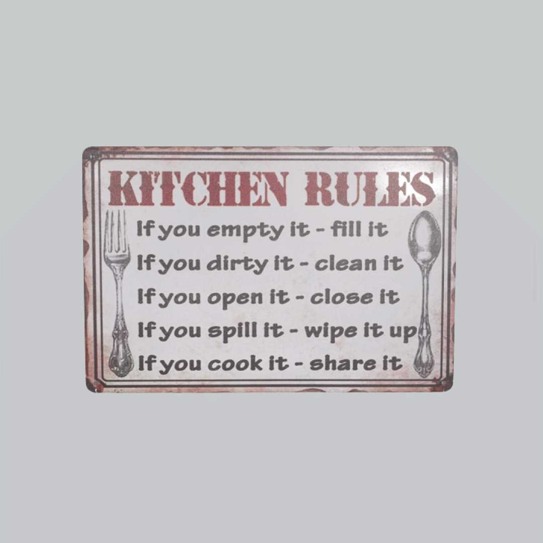 Kitchen Rules Tin Posters