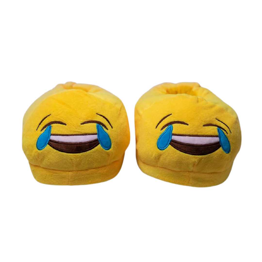Laughing Yellow Plush Slipper