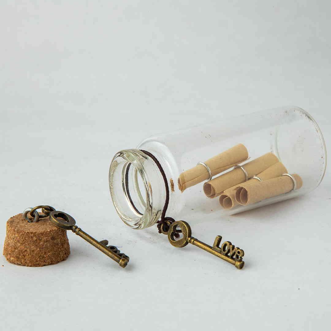 Love Key Message Bottle