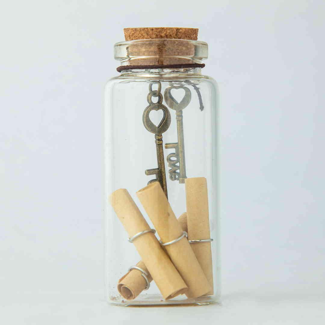 Love Key Message Bottles