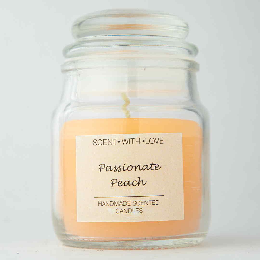 Passionate Peach Handmade Candle