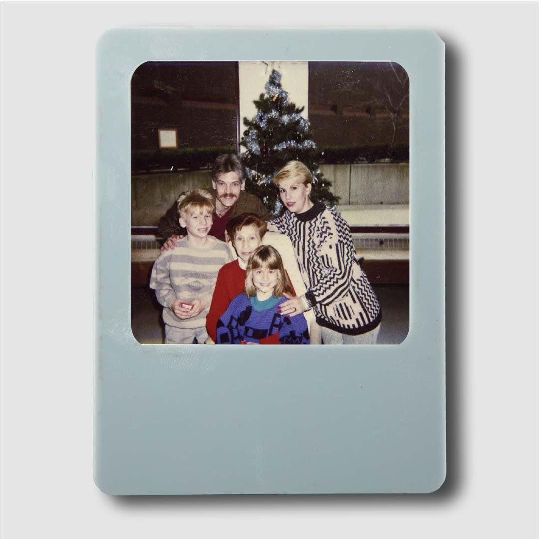 Photo Frame Grey Magnet