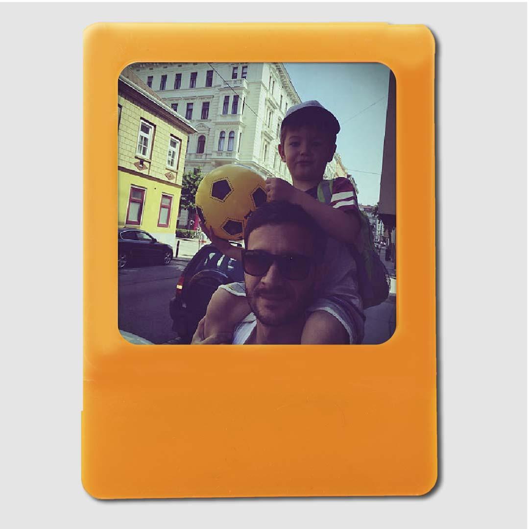 Photo Frame Orange Magnet
