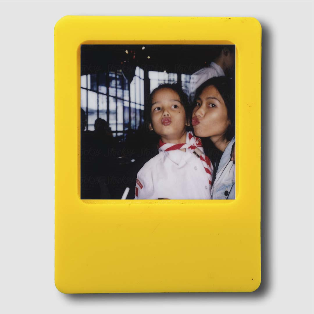 Photo Frame Yellow Magnet