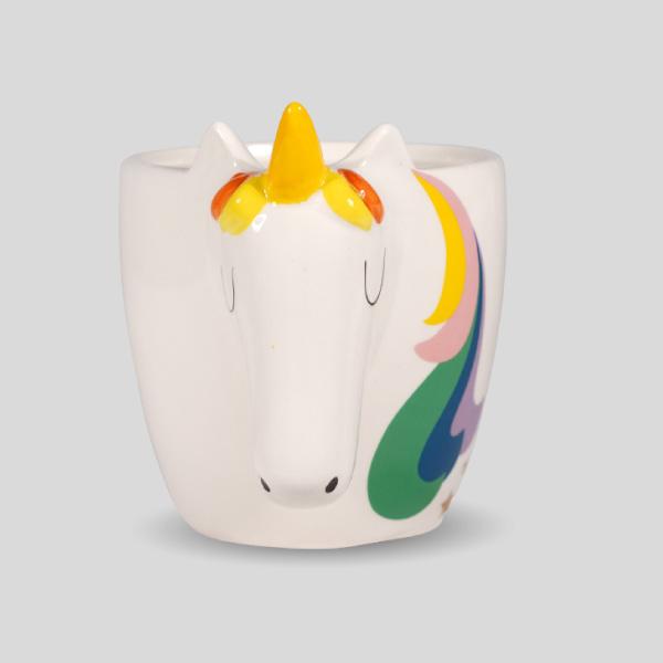 Rainbow Unicorn Face Mug 3d