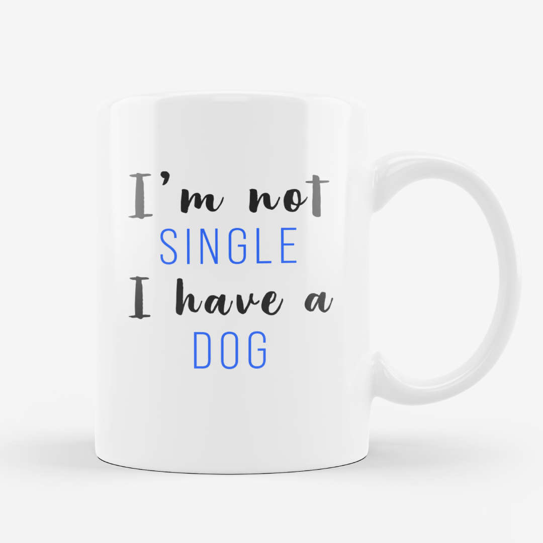 Relationship White Dog Mug
