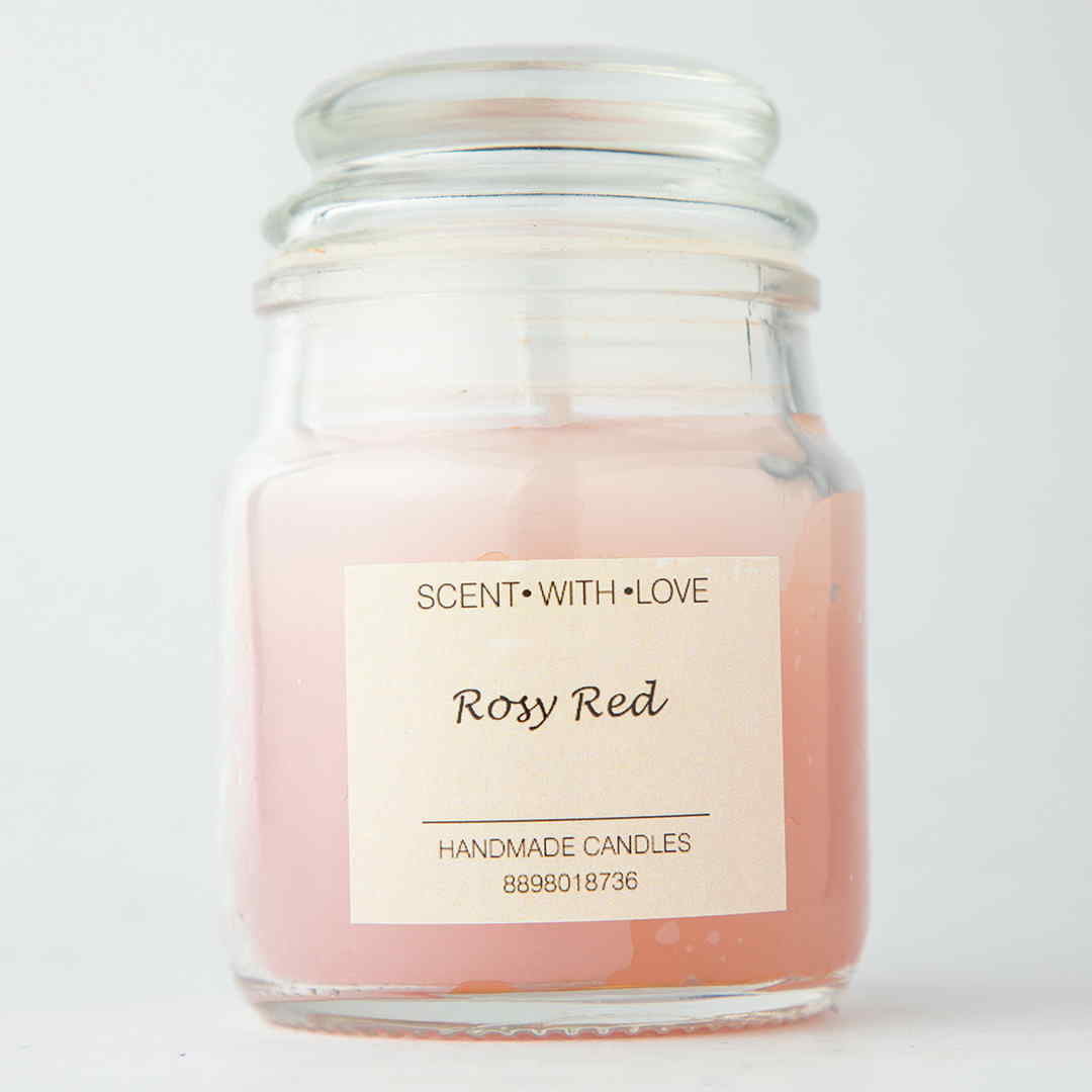 Rosy Red Handmade Candles