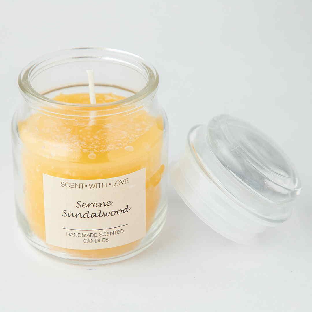 Serene Sandalwood Handmade Candle