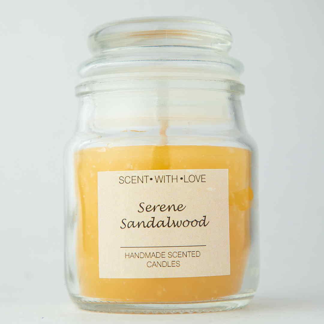 Serene Sandalwood Handmade Candles