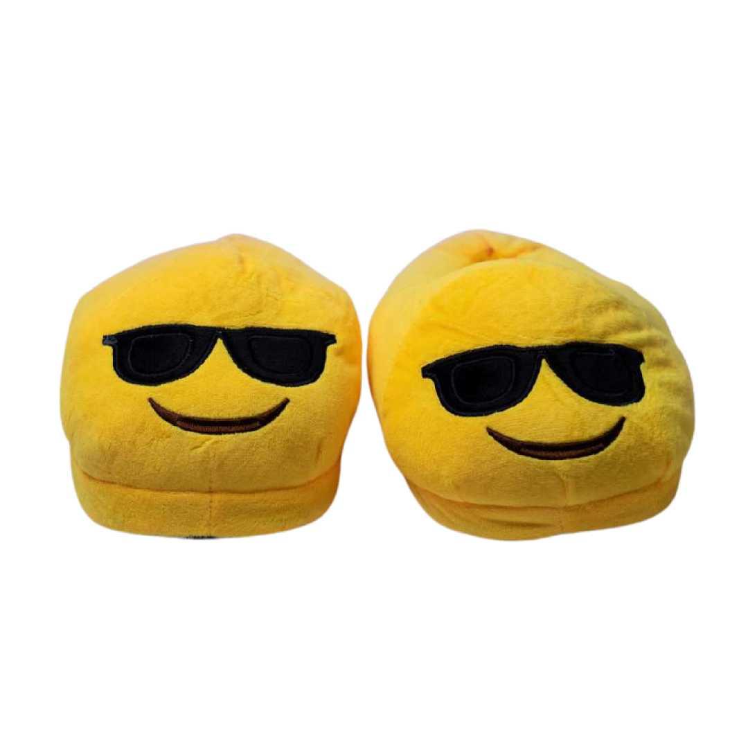 Super Cool Plush Slippers Yellow