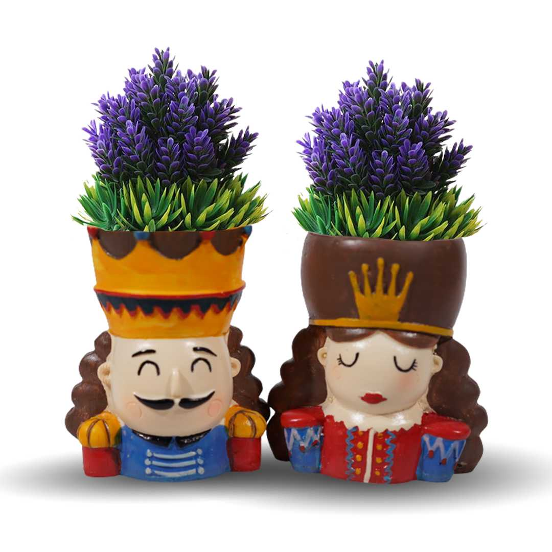 The King And Queen Resin Flower Pot