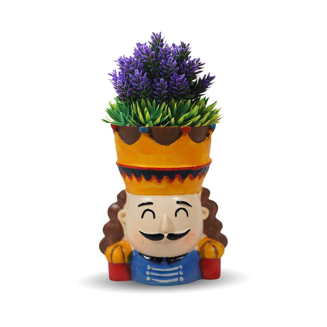 The King And Queen Resin Flower Pots