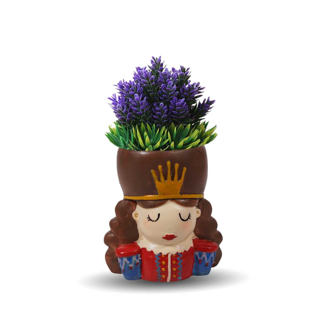 The Queen And King Resin Flower Pot