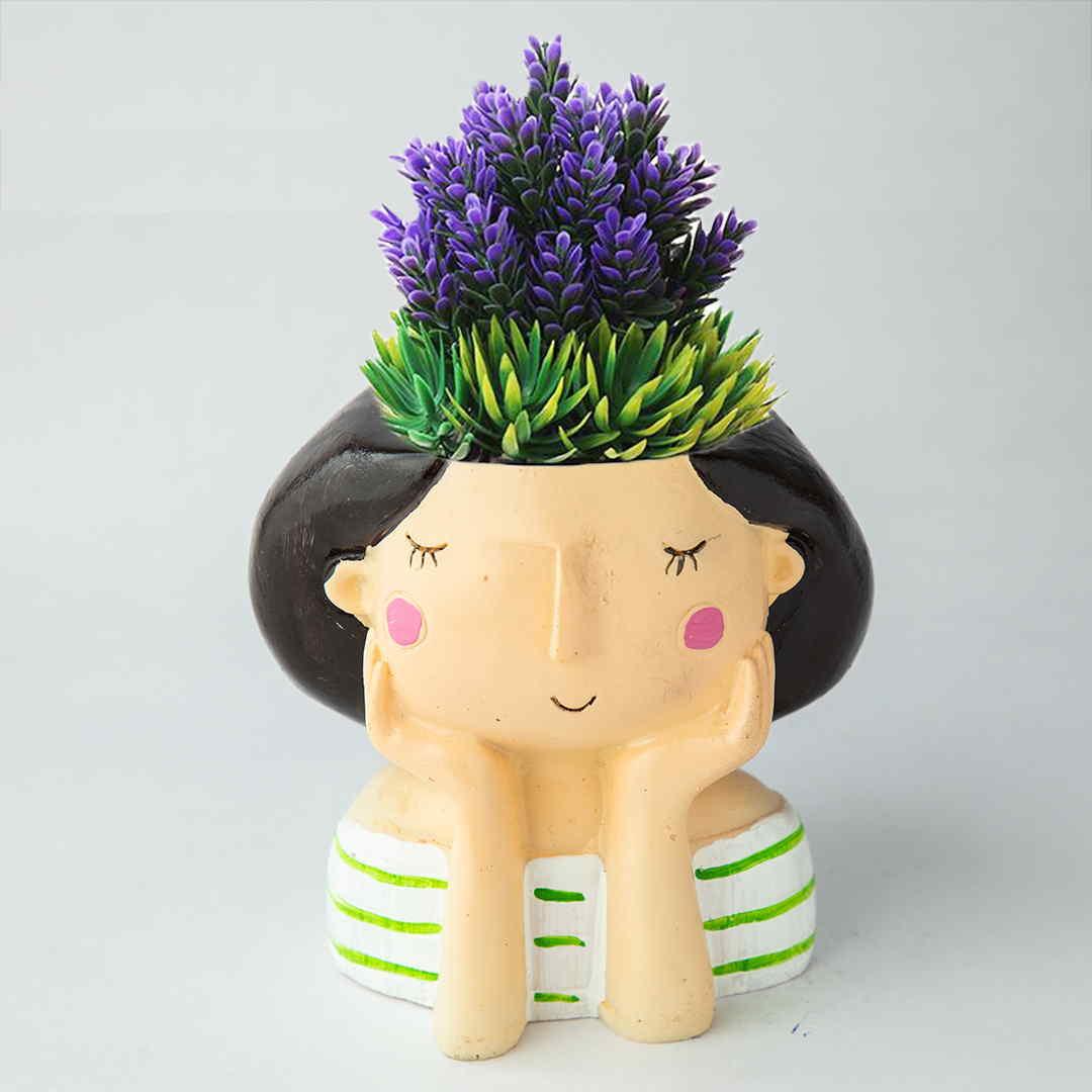 Thinking Girl Succulent Pots
