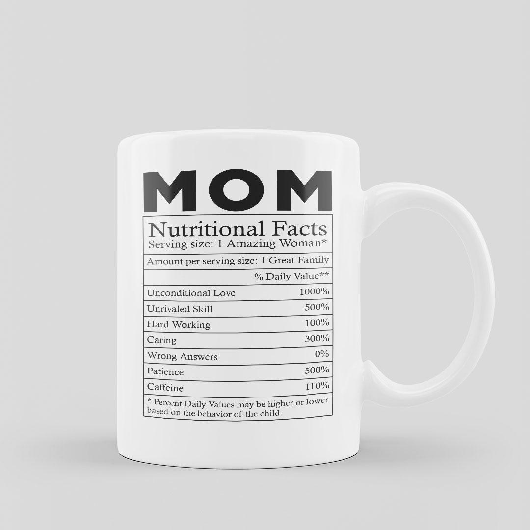 Mug Nutritional Fact Mom