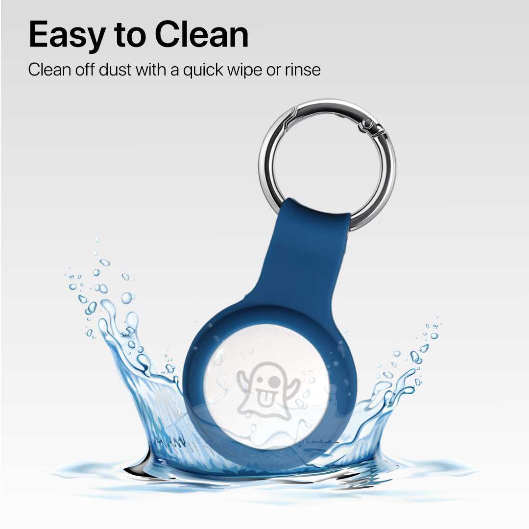 Blue Airtag Keychain