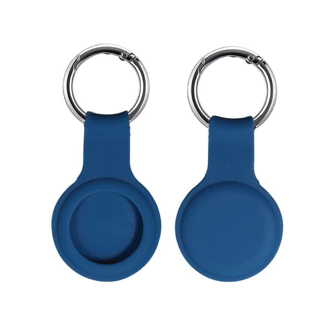 Blue Airtag Keychain Case